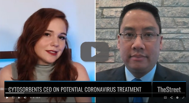 CytoSorbents CEO Dr. Phillip Chan on The Street